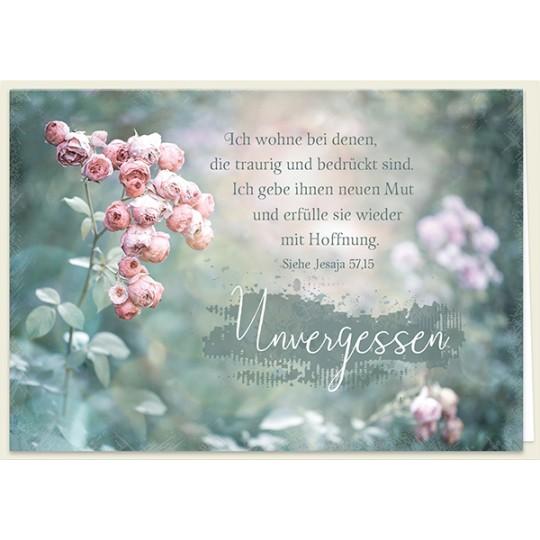 Unvergessen (Trauerkarte)