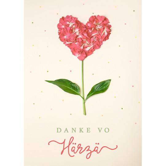 Danke von Herzen (Herzblume)